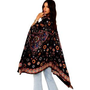 BILA CHRISTINA Multicolor Floral Print Kimono OS